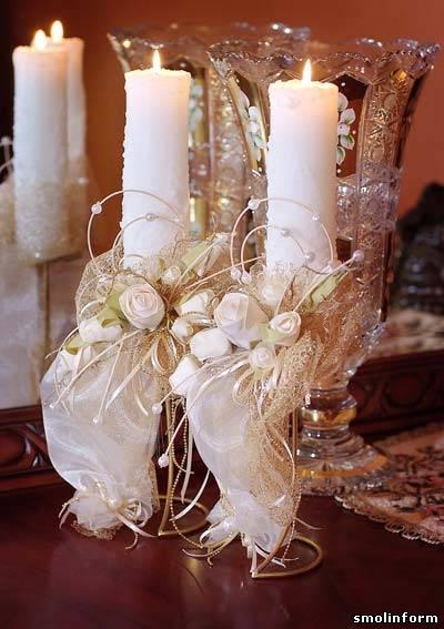 29.10.2010. Декоративное оформление бутылок, бокалов, свечей.